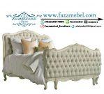 Tempat Tidur Mewah Warna Putih Terbaru