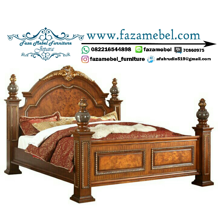Tempat Tidur Mewah Warna Merah Terbaru,,
